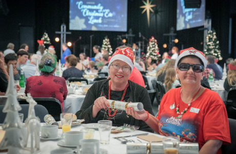 Every year we host families and individuals that would otherwise miss out on celebrating Christmas. Volunteering with your family is a fantastic way to contribute to this important event and enjoy the festivities yourself! There are a variety of jobs available from table waiting, drink hosts, food prep and table hosting.